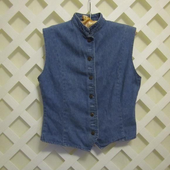 Jessi Lee Quality Garments Tops - LADIES DENIM SLEEVELESS BLOUSE Size M